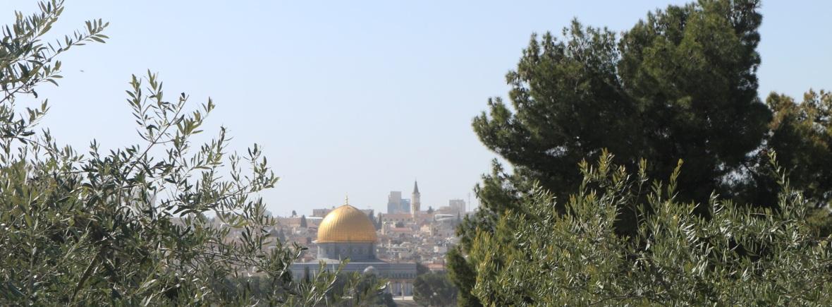 Uitzicht Tempelberg Rotskoepel Jeruzalem