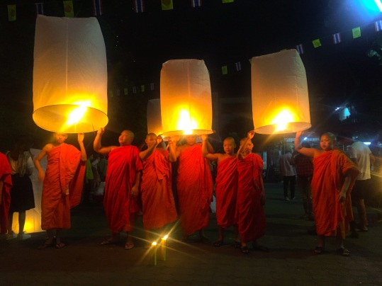 Loy Krathong at the Wat Phra Singh